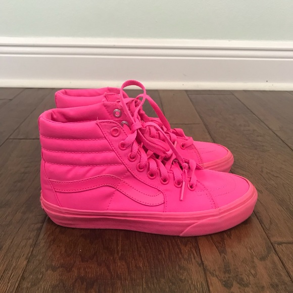 eb78c85720f63f Vans High Top Hot pink sneakers size 6.0. M 5ac6cf02a825a619af5e9027